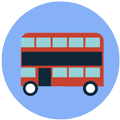Coach bus icon Digital Splash