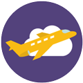 Plane icon Digital Splash