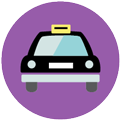 Taxi icon Digital Splash