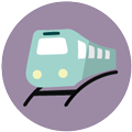 Train icon Digital Splash