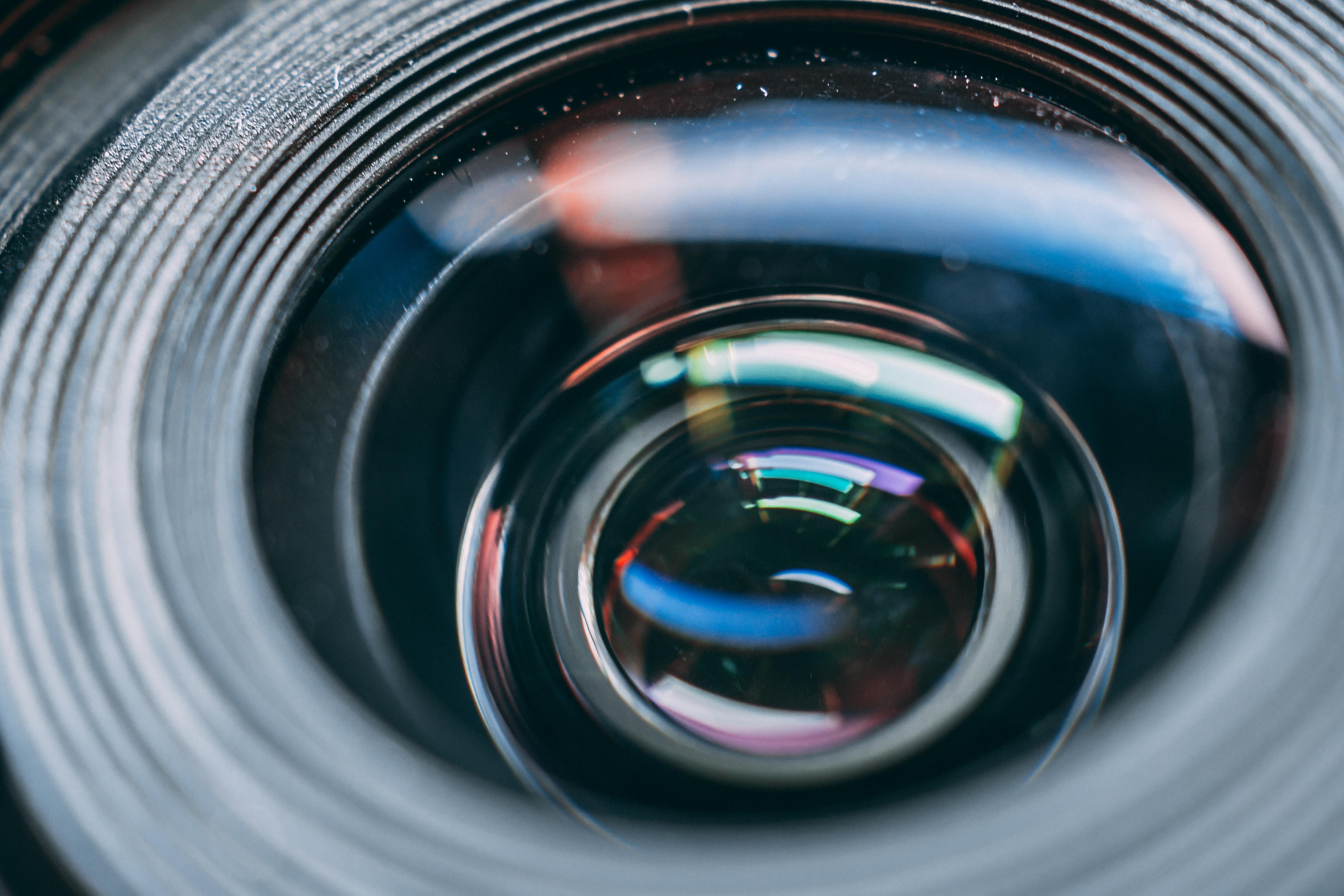 macro shot of camera lens
